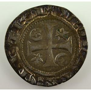 Numismatic foto  Coins Coins of Lorraine Bishopric of Metz Adhémar de Monthil   (1327-1361) Quart de gros    TB+