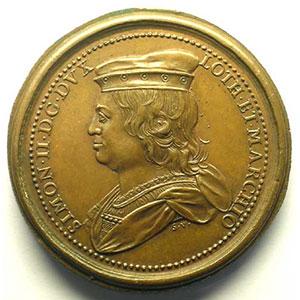 Numismatic foto  Coins Coins of Lorraine Medals Ferd. de Saint Urbain   série des Ducs de Lorraine Simon II   bronze   47 mm    TTB+/SUP