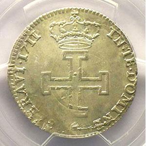 Numismatic foto  Coins Coins of Lorraine Duchy of Lorraine Léopold I   (1690-1729) Teston 1711 flan réformé    PCGS-AU55    TTB+/SUP