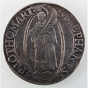 Numismatic foto  Coins Coins of Lorraine City of Metz Monnaies de la Cité Thaler au Saint-Etienne debout   1630    TTB   a été monté