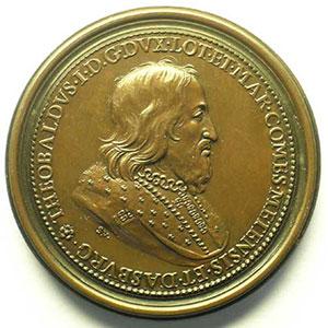 Numismatic foto  Coins Coins of Lorraine Medals Ferd. de Saint Urbain   série des Ducs de Lorraine Thiebault I   bronze   47 mm    SUP