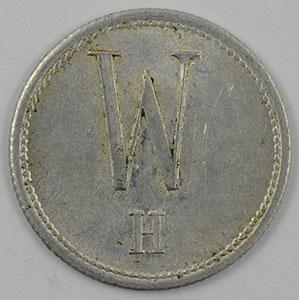 Numismatic foto  Coins Emergency coins from Alsace-Lorraine HAYINGEN (Hayange) (57) W. H. (Wendel - Hayingen) 1/2 L Milch Marke-Jeton de Lait  Al,R  22 mm    TTB+