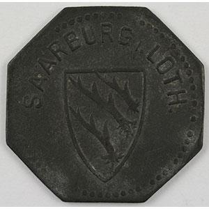 Numismatic foto  Coins Emergency coins from Alsace-Lorraine SAARBURG (Sarrebourg) (57) Saarburg i.Loth. 10 (pf)   1917   Zn,8   20,5 mm    TTB
