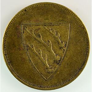 Numismatic foto  Coins Emergency coins from Alsace-Lorraine SAARBURG (Sarrebourg) (57) Freiw. Städt Feuerwehr (pompiers volontaires) SVI   Lt, R  25mm    TTB