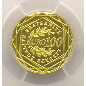 Numismatic foto  Coins Euros - Gold France Monnaies courantes 100 €   2008    PCGS-MS69    BE