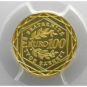 Numismatic foto  Coins Euros - Gold France Monnaies courantes 100 €   2008    PCGS-MS70    BE