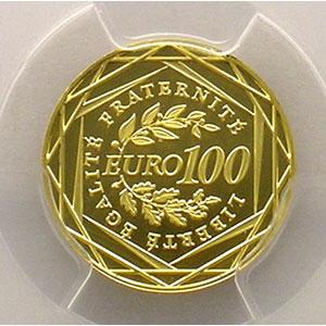 Numismatic foto  Coins Euros - Gold France Monnaies courantes 100 €   2009    PCGS-MS69    BE