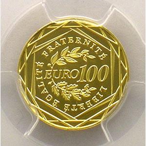 Numismatic foto  Coins Euros - Gold France Monnaies courantes 100 €   2009    PCGS-MS70    BE