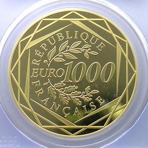 Numismatic foto  Coins Euros - Gold France Monnaies courantes 1000 €   2012    PCGS-PR69DCAM    BE