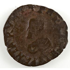 Numismatic foto  Coins Feudal coins Franche-Comté Comtes de Bourgogne Denier   Philippe II (1556-1598)   1589  Dôle    B/TB