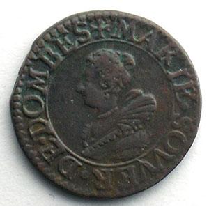 Numismatic foto  Coins Feudal coins Principauté de Dombes Marie de Bourbon-Montpensier   (1608-1627) Double tournois   1620    TTB