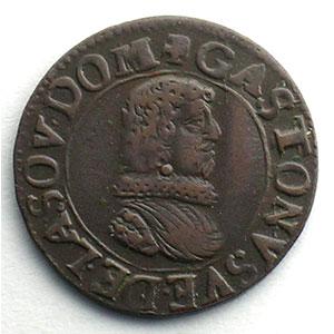 Numismatic foto  Coins Feudal coins Principauté de Dombes Gaston d'Orléans   (1627-1650) Double tournois   1635 B    TTB