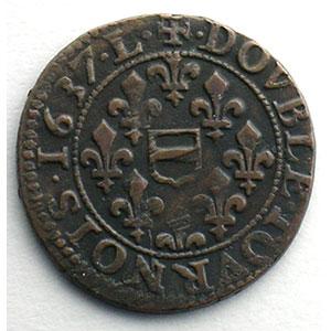 Numismatic foto  Coins Feudal coins Principauté de Boisbelle-Henrichemont Maximilien de Béthune   (1597-1641) Double tournois   1637 L    TTB
