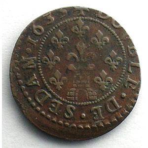 Numismatic foto  Coins Feudal coins Ardennes Principauté de Sedan Double Tournois   (Frédéric-Maurice de la Tour d'Auvergne 1623-1642)   1635    TTB