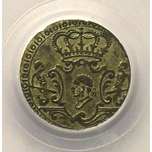 Numismatic foto  Coins Feudal coins Corse Pascal PAOLI   (1762-1768) G.6   2 Soldi   1764    PCGS-AU53    TTB+