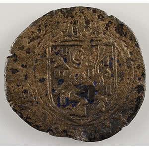 Numismatic foto  Coins Feudal coins Franche-Comté Comtes de Bourgogne Liard   Charles Quint (1530-1555)   Dôle   date illisible    TB+