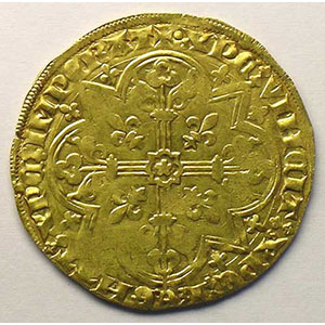 Numismatic foto  Coins Feudal coins Duché de Brabant Jeanne et Wenceslas   (1355-1383) Mouton d'or (Vilvorde)    TTB