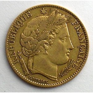 Numismatic foto  Coins French gold coins 10 Francs G.1012   10 Francs  II° République 1851 A  (Paris)    TB+