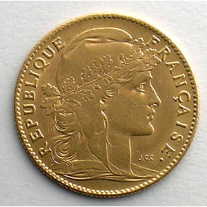 Numismatic foto  Coins French gold coins 10 Francs G.1017   10 Francs  Marianne 1906    SUP