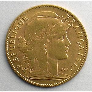 Numismatic foto  Coins French gold coins 10 Francs G.1017   10 Francs  Marianne 1907    TTB+