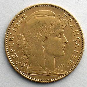 Numismatic foto  Coins French gold coins 10 Francs G.1017   10 Francs  Marianne 1909    TTB+