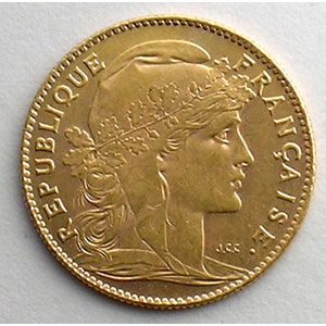 Numismatic foto  Coins French gold coins 10 Francs G.1017   10 Francs  Marianne 1910    SUP