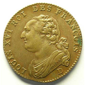 Numismatic foto  Coins French revolutionary coins G.15   12 Deniers François 1792 D  (Lyon)    PCGS-AU58    SUP