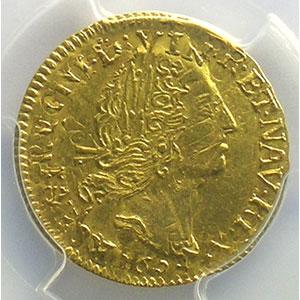 Numismatic foto  Coins French royal coins Louis XIV   (1643-1715) G.240   1/2 Louis d'or aux 4 L 1694 P  (Dijon)  réf.   PCGS-AU55    TTB+/SUP