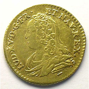 Numismatic foto  Coins French royal coins Louis XV   (1715-1774) G.329   Demi-Louis d'or aux lunettes 1726 W  (Lille)    TB+/TTB