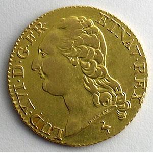 Numismatic foto  Coins French royal coins Louis XVI   (1774-1792) G.361   Louis d'or au buste nu 1787 A  (Paris)    TTB/TTB+
