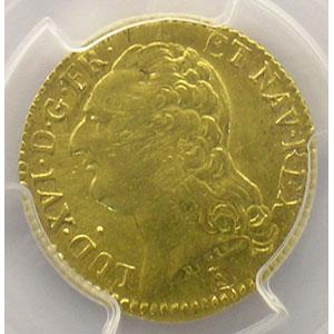 Numismatic foto  Coins French royal coins Louis XVI   (1774-1792) G.361   Louis d'or au buste nu 1787 T  (Nantes)  2° sem.    PCGS-AU53    TTB+