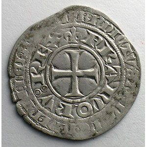 Numismatic foto  Coins French royal coins Charles V   (1364-1380) Duplessy 363   Blanc au K 20 avril 1365    TTB/TTB+