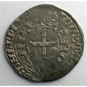 Numismatic foto  Coins French royal coins Charles IV   (1322-1328) Duplessy 243   Maille blanche 3° émission 24 juillet 1326    TB+