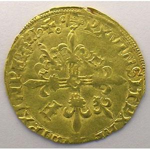 Numismatic foto  Coins French royal coins François I   (1515-1547) Duplessy 775   Ecu d'or au soleil, 5° type ancre dans la légende  Bayonne    TTB