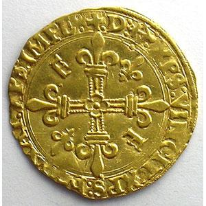 Numismatic foto  Coins French royal coins François I   (1515-1547) Duplessy 775   Ecu d'or au soleil, 5° type ancre dans la légende  Bayonne    TTB+