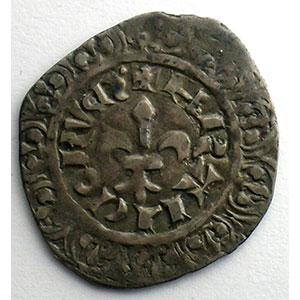 Numismatic foto  Coins French royal coins Philippe VI   (1328-1350) Duplessy 263   Gros à la fleur de lis Dupl.263 A   2° émission 17 février 1341    TB+/TTB