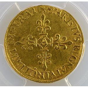 Numismatic foto  Coins French royal coins Charles IX   (1560-1574) Duplessy 1057   Ecu d'or au Soleil MDLXX (1570) A  (Paris)    PCGS-AU58    SUP