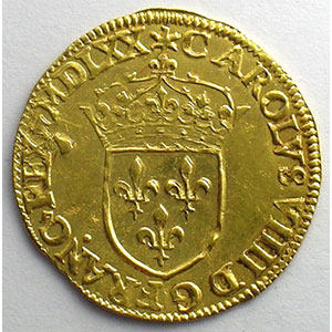 Numismatic foto  Coins French royal coins Charles IX   (1560-1574) Duplessy 1057   Ecu d'or au Soleil MDLXX (1570) A  (Paris)    TTB+