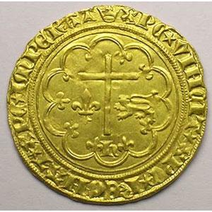 Numismatic foto  Coins French royal coins Henri VI   (roi de France et d'Angleterre) Duplessy 443A   Salut d'or Paris  (différent couronne)    TTB+