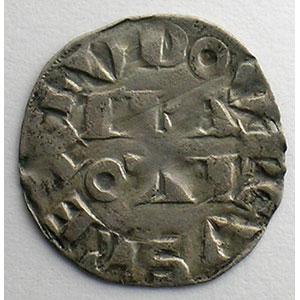 Numismatic foto  Coins French royal coins Louis VII   (1137-1180) Duplessy 146   Denier 3° type Paris    TB+/TTB