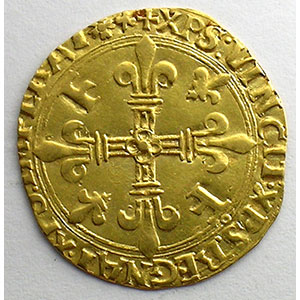 Numismatic foto  Coins French royal coins François I   (1515-1547) Duplessy 775   Ecu d'or au soleil, 5° type Point 12° et trèfle  (Lyon)    TTB