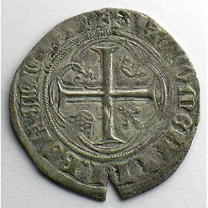 Numismatic foto  Coins French royal coins Charles VII   (1422-1461) Duplessy 519   Blanc à la couronne point 18°   Paris    TB+