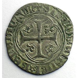 Numismatic foto  Coins French royal coins Louis XI   (1461-1483) Duplessy 550   Blanc à la couronne Point 19°   Saint Lô    TB+/TTB
