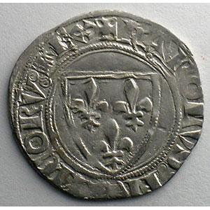 Numismatic foto  Coins French royal coins Charles VI   (1380-1422) Dupl. 377A   Blanc Guénar, 2° émission Point 2°  ROMANS    TTB