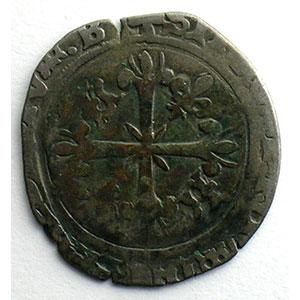 Numismatic foto  Coins French royal coins Louis XII   (1498-1514) Duplessy 676   Douzain Lvdovicvs Point 22° et B dans la légende   (Bourges)    B/TB