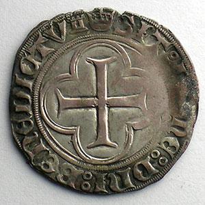 Numismatic foto  Coins French royal coins Louis XI   (1461-1483) Duplessy 553   Blanc au Soleil Point 6° et tour    Tours    TB+/TTB