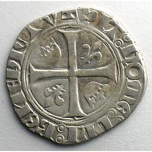 Numismatic foto  Coins French royal coins Charles VI   (1380-1422) Dupl. 377A   Blanc Guénar, 2° émission Point plein sous la première lettre  CREMIEU    TB+/TTB