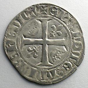 Numismatic foto  Coins French royal coins Charles VI   (1380-1422) Dupl. 377A   Blanc Guénar, 2° émission sans point d'atelier    TB+/TTB