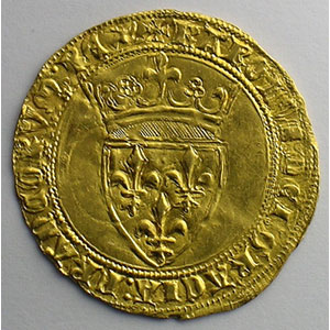 Numismatic foto  Coins French royal coins Charles VI   (1380-1422) Duplessy 369   Ecu d'or à la couronne sans point d'atelier    TTB+