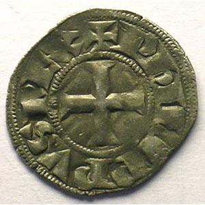 Numismatic foto  Coins French royal coins Philippe IV   (1285-1314) Duplessy 223   Denier Tournois à l'O rond TTB/TTB+